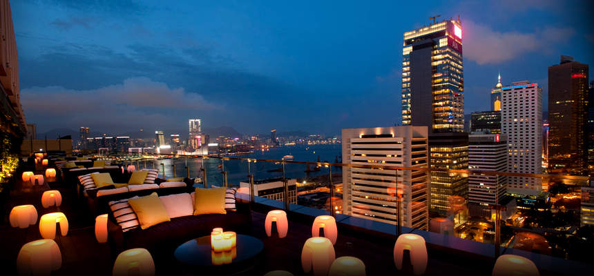 Sevva - one of HK's many rooftop bars.
